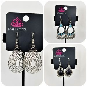 Paparazzi Earring Bundle, 4 Sets